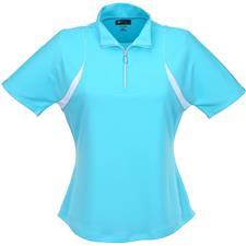 Greg Norman Short Sleeve Color Blocked Polo for Women