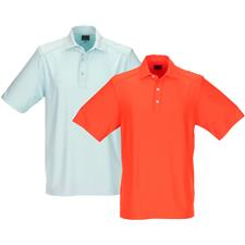 Greg Norman Men's Textured Solid Polo