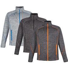 North End Custom Logo Flux Bonded Fleece Jacket