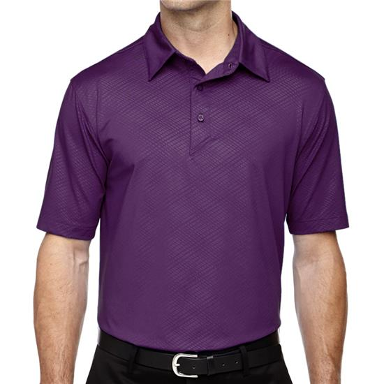 North End Men's Maze Performance Embossed Print Polo