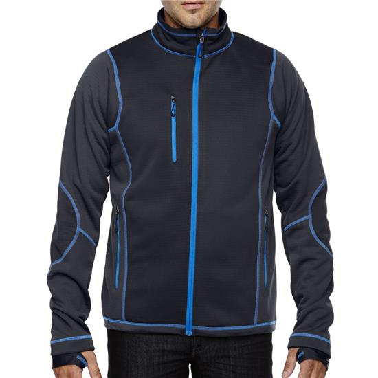 North End Men's Pulse Textured Fleece Jacket