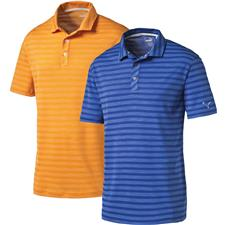 Puma Men's Essential Mixed Stripe Cresting Polo