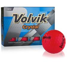 Volvik Crystal Red Golf Balls