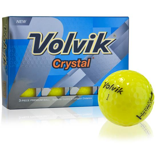 Volvik Prior Generation Crystal Yellow Golf Balls