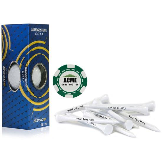 Bridgestone Custom Logo Sleeve, Chip Marker and Tee Kit