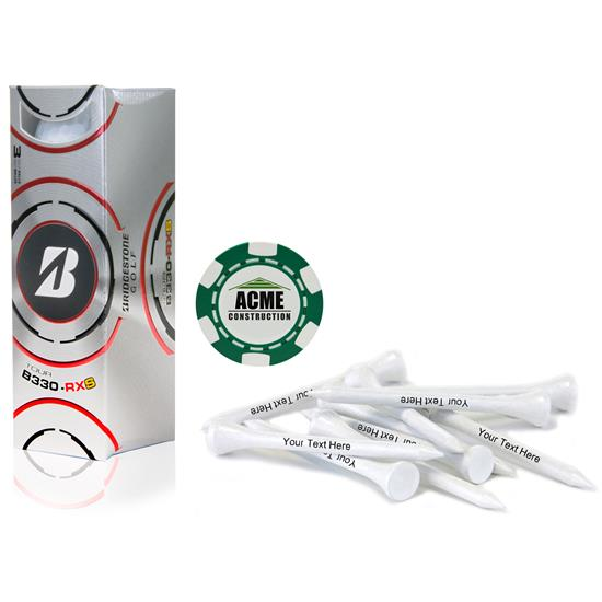 Bridgestone Custom Logo Sleeve, Chip Marker and Tee Kit