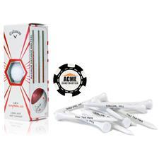 Callaway Golf Custom Logo HEX Diablo, Black Chip Marker and Tee Kit