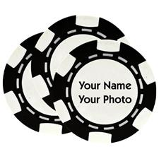 Classic Photo Poker Chips - Black - 3 Pack