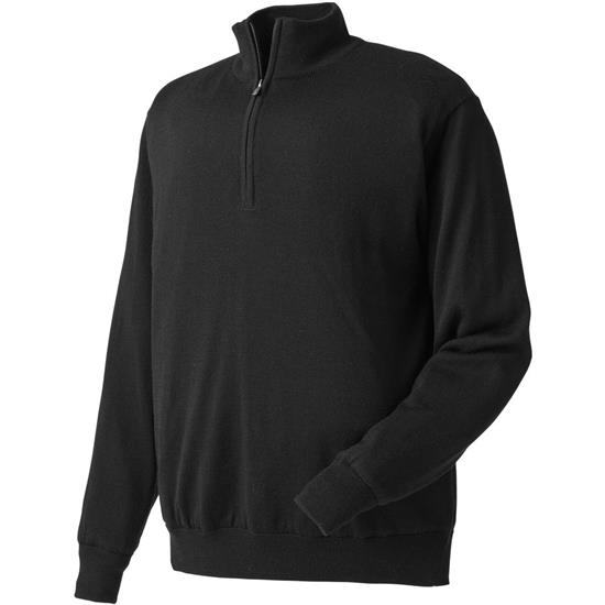 FootJoy Men's Performance Lined Half-Zip Solid Logo Sweater