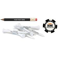 Logo Custom Logo Personalized Pencil w/ Poker Chip Marker & Tees