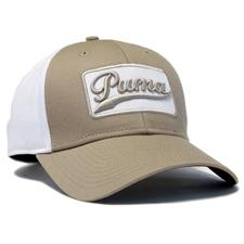 Puma Men's Greenskeeper Adjustable Personalized Hat - Pale Khaki-White