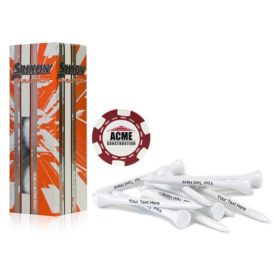 Srixon Custom Logo Sleeve, Chip Marker and Tee Kit