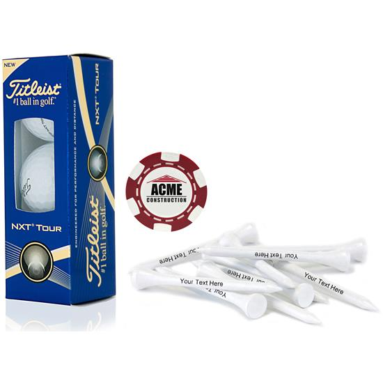 Titleist Custom Logo Sleeve, Chip Marker and Tee Kit