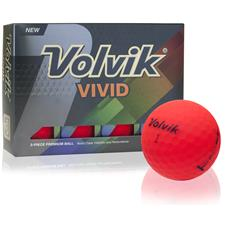 Volvik Crystal Vivid Matte Red Golf Balls