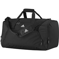 Adidas Medium Custom Logo Duffle - Black-White