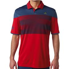 Adidas Men's Team USA ClimaChill American Stripe Print Polo