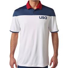 Adidas Men's Team USA ClimaCool Sport Block Polo