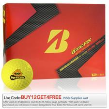 Bridgestone Custom Logo Tour B330-RX Optic Yellow Golf Balls