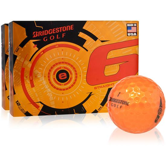 Bridgestone e6 Orange Golf Balls - 2 Dozen