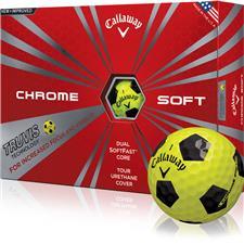 Callaway Golf Chrome Soft Yellow Truvis Black Golf Balls