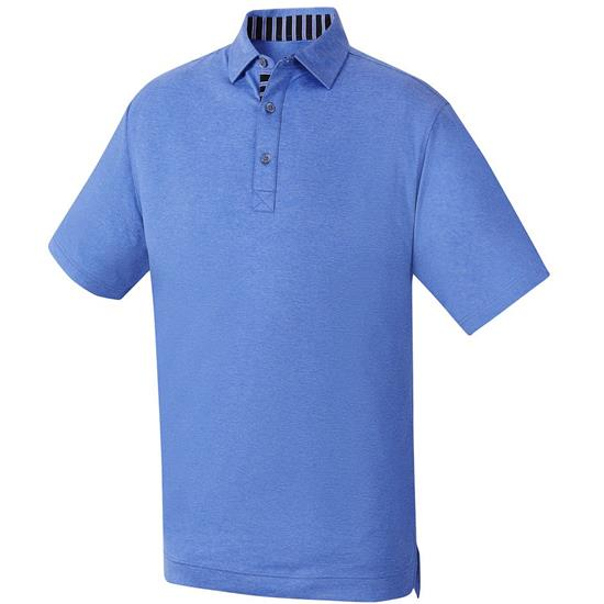 FootJoy Men's Heather Lisle Self Collar Polo
