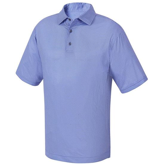 FootJoy Men's Stretch Lisle Foulard Print Self Collar Polo