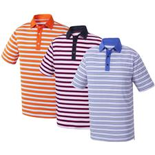 FootJoy Men's Stretch Lisle Multi-Stripe Athletic Fit Polo