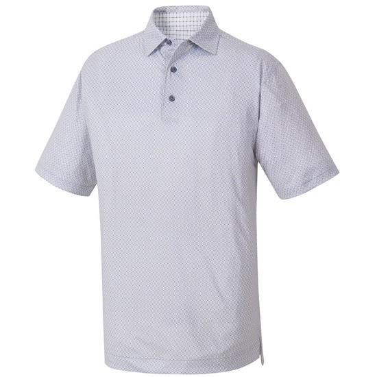 FootJoy Men's Stretch Lisle Print Self Collar Polo