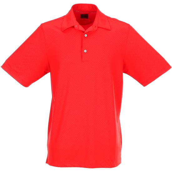 Greg Norman Men's Embossed Solid Polo