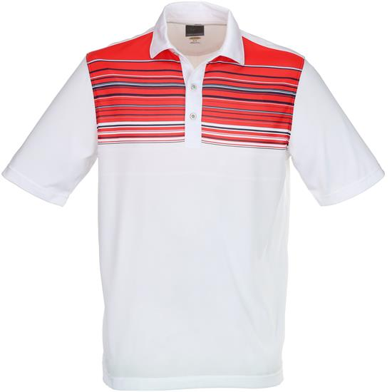 Greg Norman Men's Engineered Contrast Stripe Polo