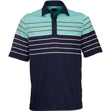 Greg Norman Men's Engineered Multi Stripe Polo