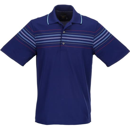 Greg Norman Men's Engineered Stripe Polo