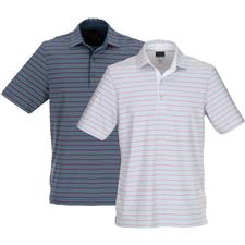 Greg Norman Men's ML75 Stretch Multi Stripe Polo