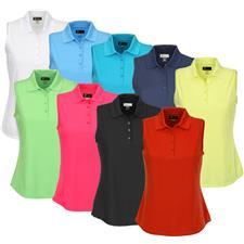 Greg Norman Custom Logo Protek Micro Pique Sleeveless Polo for Women