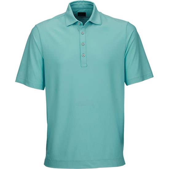 Greg Norman Men's Textured Stripe Polo