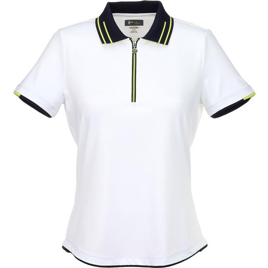 Greg Norman Zip Contrast Trim Polo for Women