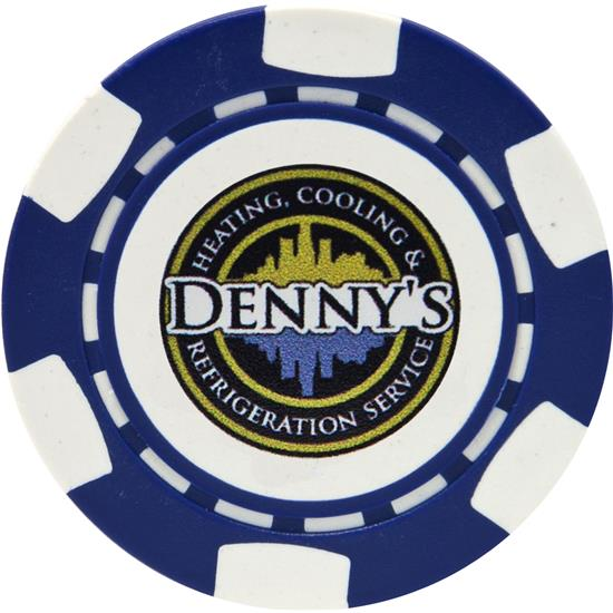 Logo 6-Stripe Logo Overrun Poker Chip Ball Marker