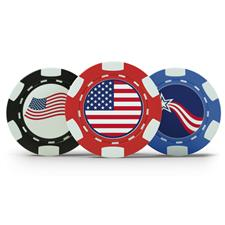 Logo Patriotic Poker Chip Set