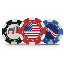 Logo Patriotic Poker Chip Set