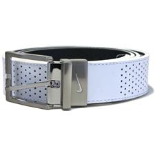Nike Perforated Reversible Belt - White-Black - Cut to Length