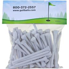 Premium 3 1/4 Inch Golf Tees - 50 Pack