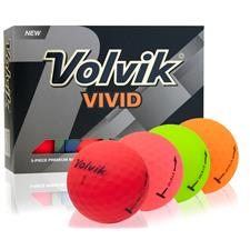 Volvik Vivid Matte Multi-Color Golf Balls