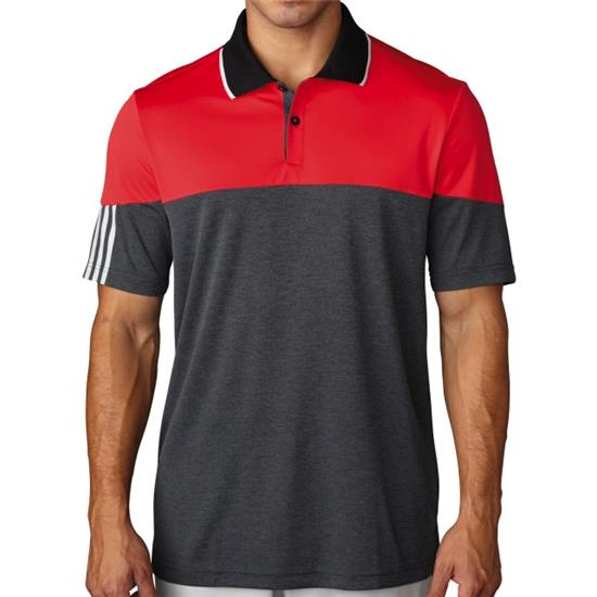 Adidas Men's ClimaChill 3-Stripes Block Polo