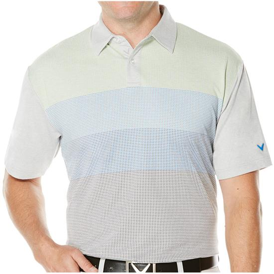 Callaway Golf Men's Brushed Pixel Printed Polo