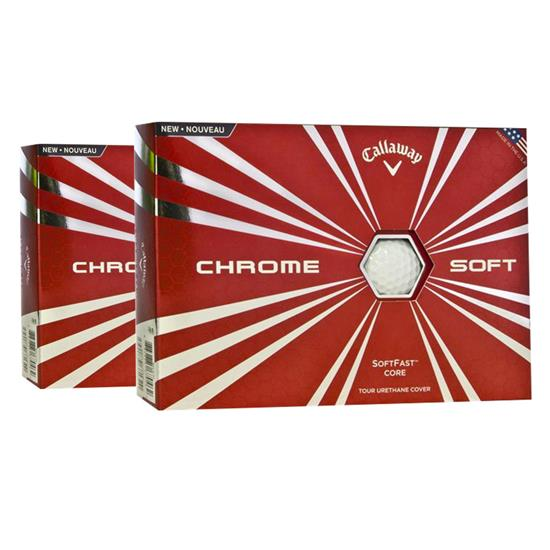 Callaway Golf Chrome Soft Golf Balls - Double Dozen