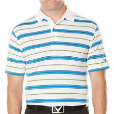 Callaway Golf Men's Opti-Soft Classic Roadmap-Striped Polo