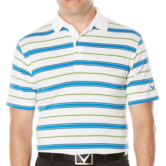 Callaway Golf Men's Opti-Soft Classic Roadmap-Striped Polo