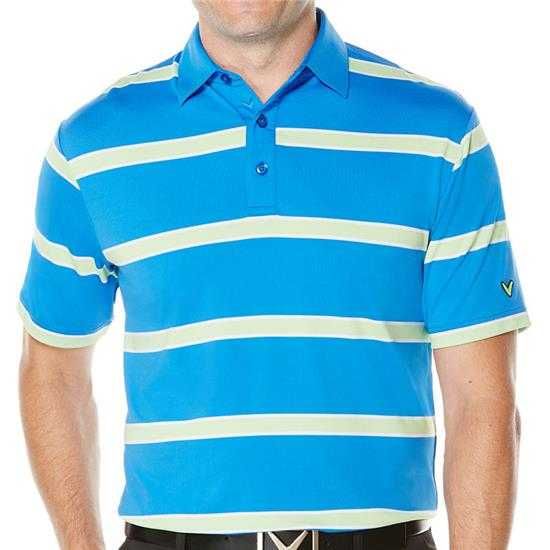 Callaway Golf Men's Rugby-Striped Polo