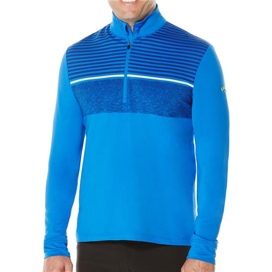Callaway Golf Men's Shadow-Striped French Terry 1/4-Zip Pullover