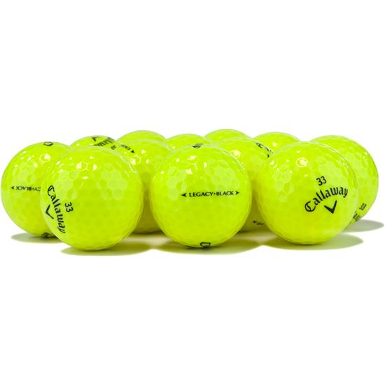 Callaway Golf Tour Select Legacy Black Yellow Overrun Golf Balls